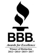 BBB Awards for commercial HVAC service Excellence